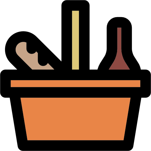 Food, Basket, Fashion, Camping, Picnic Icon