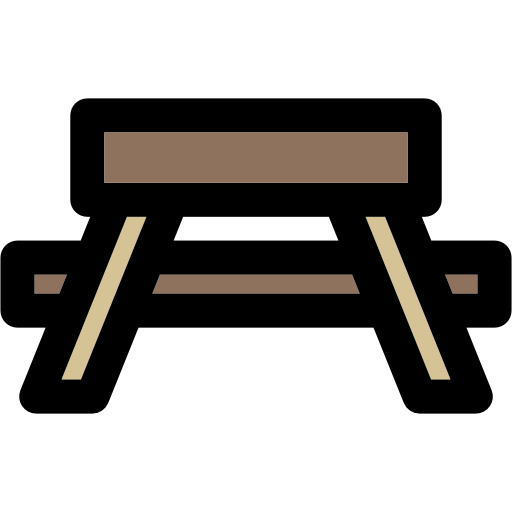 People, Camping, Table, Bench, Rest Area, Park, Picnic Icon