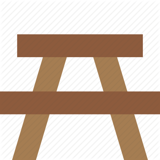 Bbq, Bench, Picnic, Table Icon