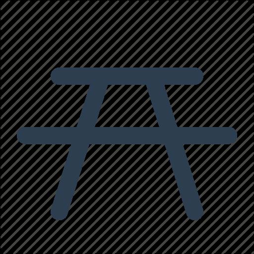 Bbq, C Picnic, Table Icon