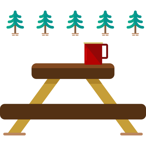 Rest Area, Picnic Table, Park, Nature, Camping, Picnic Icon