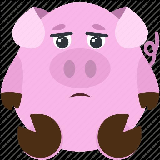 Animal, Dissapointed, Emoji, Emoticon, Emotion, Pig Icon
