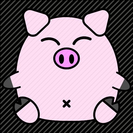 Cartoon, Chinese, Cute, Fat, Horoscope, Pig, Zodiac Icon