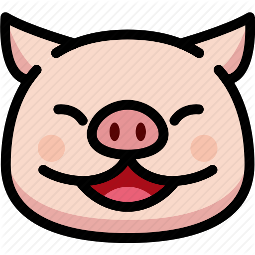 Emoji, Emotion, Expression, Face, Feeling, Laughing, Pig Icon
