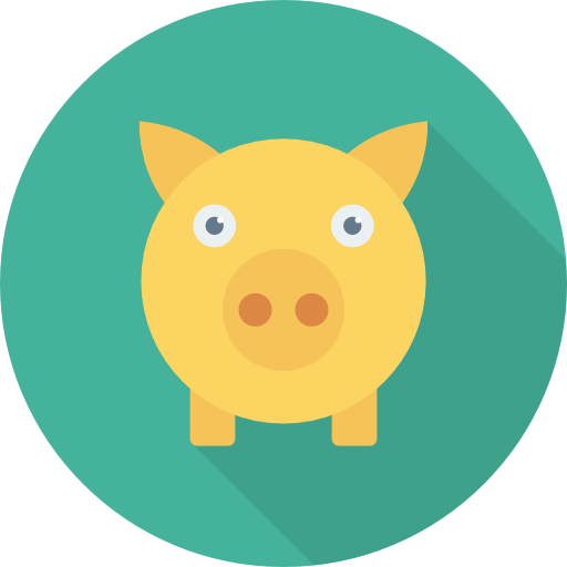 Piggy Bank Icon Banking And Finance Dinosoftlabs