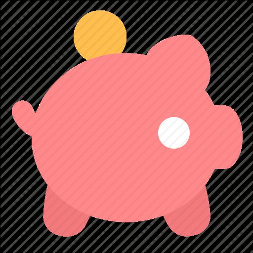 Coin, Money, Piggy Bank Icon