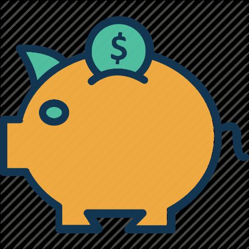 Coin Savings, Investment, Money Savings, Piggy Bank Icon