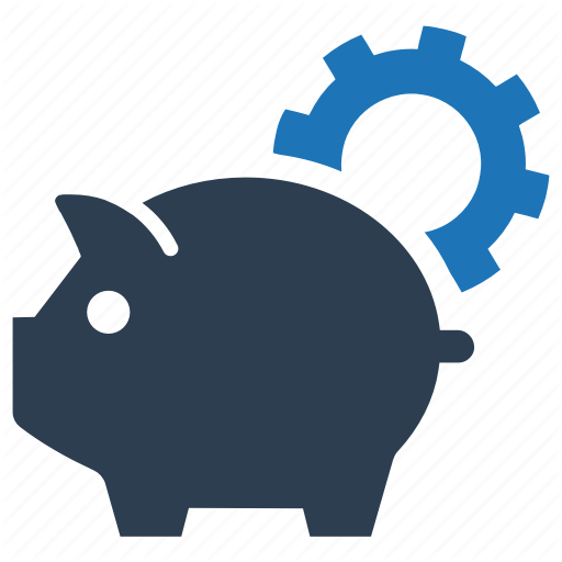 Gear, Investment, Piggy Bank, Savings, Setting Icon
