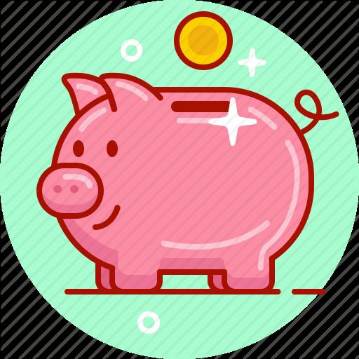 Money, Money Box, Penny Bank, Pig, Piggy, Piggy Bank, Save Icon