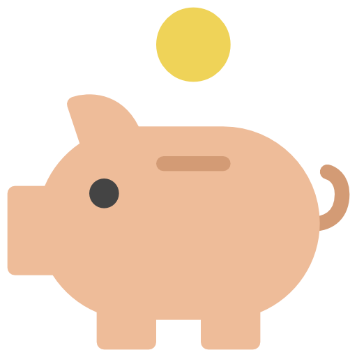 Piggy, Piggy Bank Icon Free Of The Nucleo Flat Business Icons