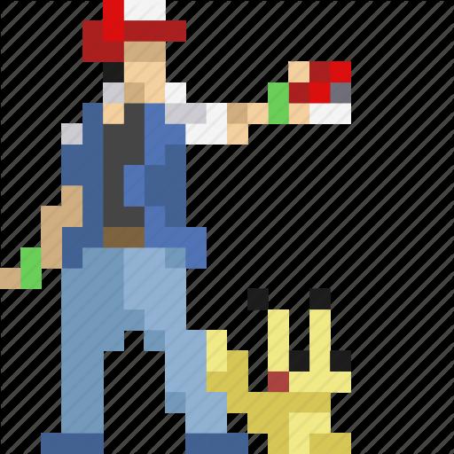 Ash, Avatar, Pikachu, Pocketmonster, Pokeball, Pokemon Icon