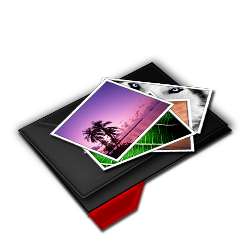 My, Pictures, Pile, Red Icon