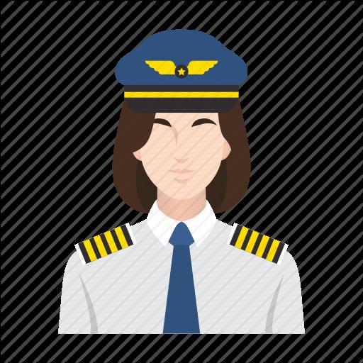 Airplane, Flight, Job, Occupation, People, Pilot, Woman Icon