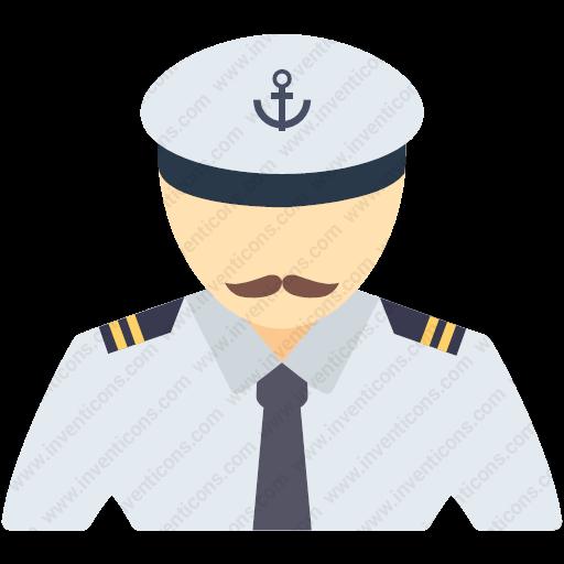 Download Captain,pilot,driver,airline Pilot,taxi Driver Icon