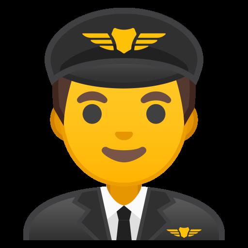 Man Pilot Icon Noto Emoji People Profession Iconset Google