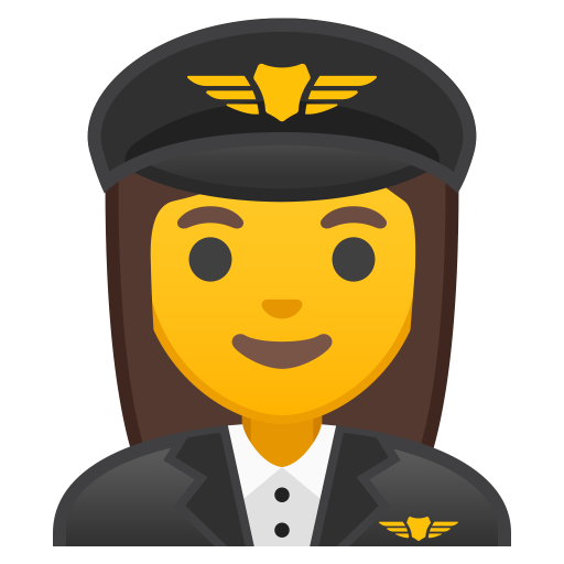 Woman Pilot Icon Noto Emoji People Profession Iconset Google