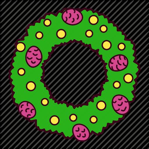 Christmas, Decoration, Ornament, Pine, Pinecone, Wreath Icon