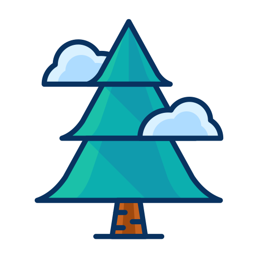 Christmas, Forest, Pine, Tree, Cloud Icon