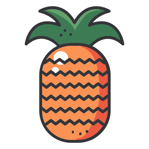 Pineaple Color Stroke Icon