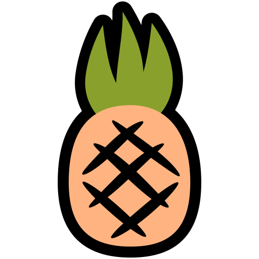 Pineapple Icon Fresh Fruit Iconset Alex T