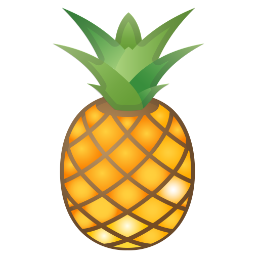 Pineapple Icon Noto Emoji Food Drink Iconset Google