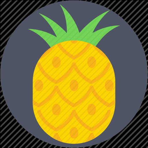 Ananas, Ananas Comosus, Organic, Pineapple, Tropical Icon