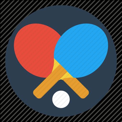 Ball, Game, Paddle, Ping Pong, Racket, Table, Tennis Icon