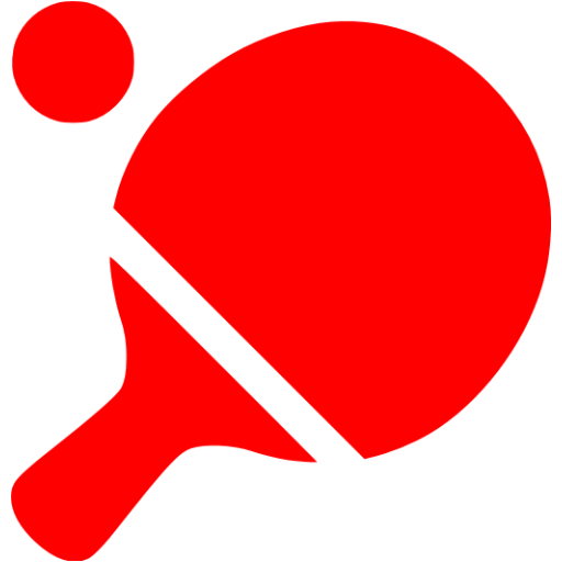Red Ping Pong Icon