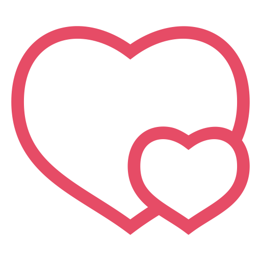 Heart, Hearts, Love, Pink, Valentine, Valentine's Day Icon