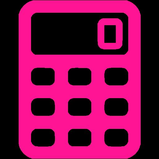 Deep Pink Calculator Icon