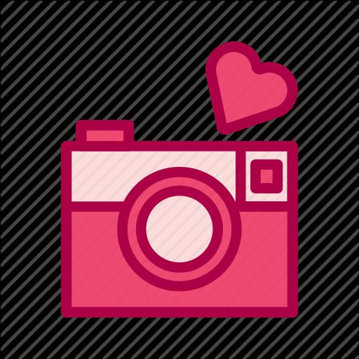 Camera, Heart, Love, Photo, Valentine Icon