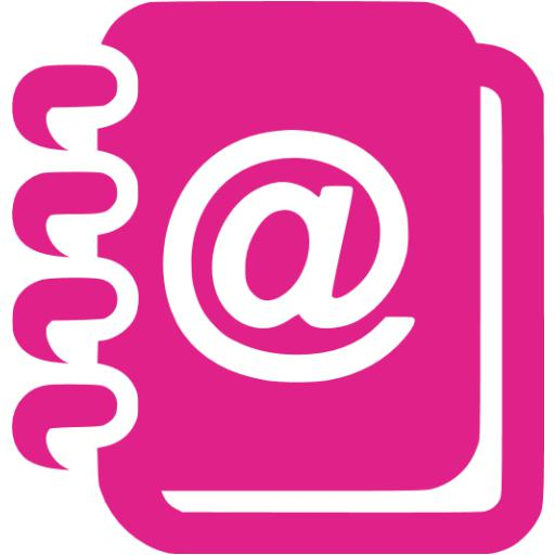 Barbie Pink Contacts Icon