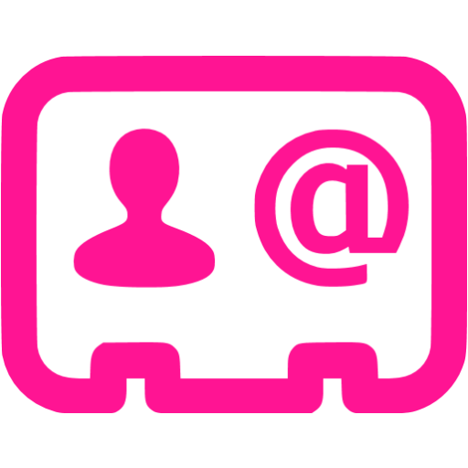 Deep Pink Business Contact Icon