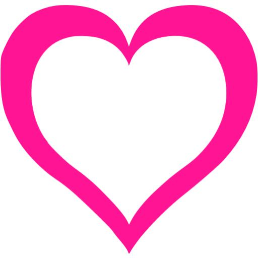 Deep Pink Heart Icon