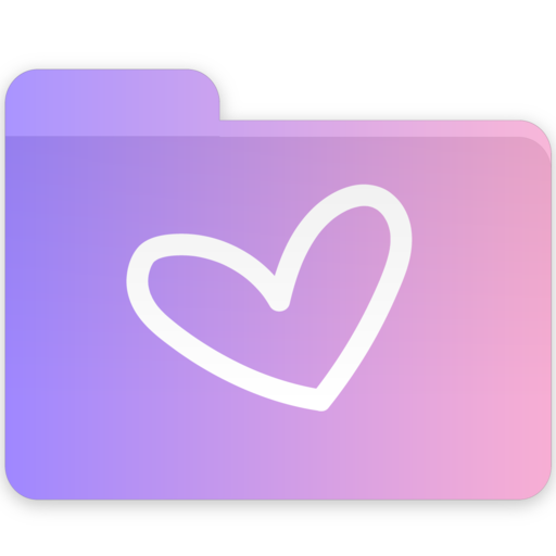 Heart, Folder Icon Free Of Gradient Folders