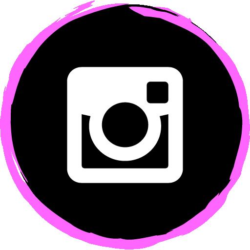 Instagram Free Pink Social Media Art Brush Style Icon Designed