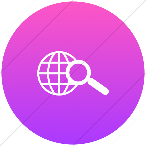 Flat Circle White On Ios Pink Gradient Classica