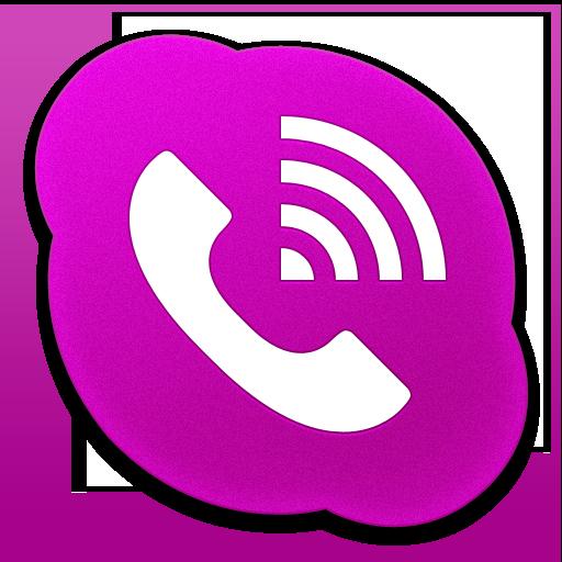 Skype Phone Alt Pink Icon