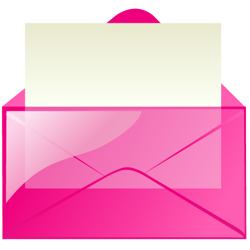 Email, Letter, Pink, Mail, Message, Envelop Icon
