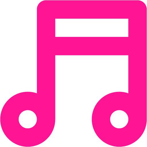 Deep Pink Music Note Icon