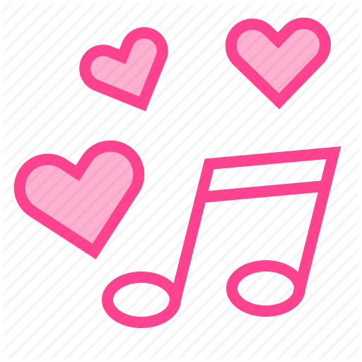 Heart, Love, Music, Song, Valentine Icon