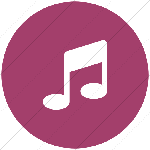 Flat Circle White On Pink Bootstrap Font Awesome Music Icon