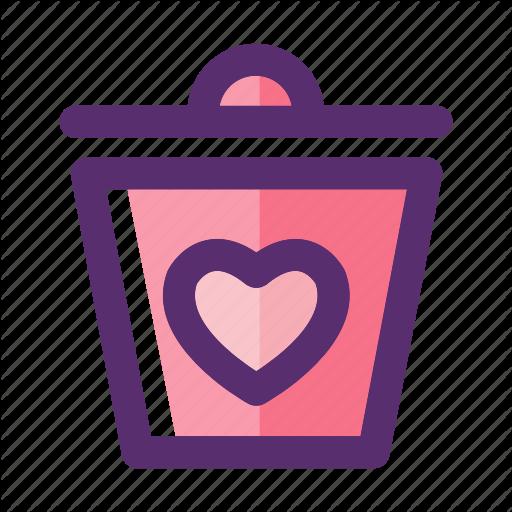 Bin, Delete Heart, Garbage, Heart, Recycle, Trash, Valentine Icon