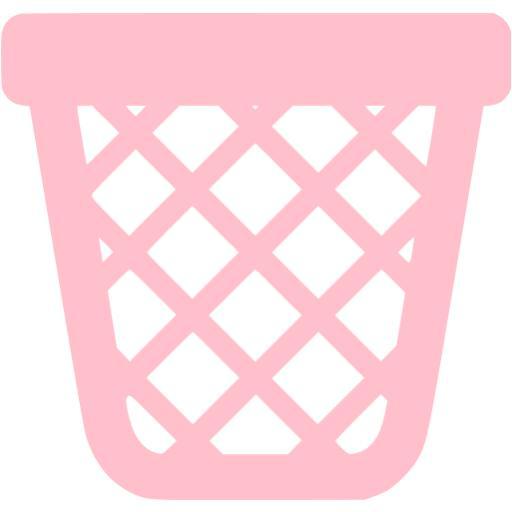 Pink Empty Trash Icon