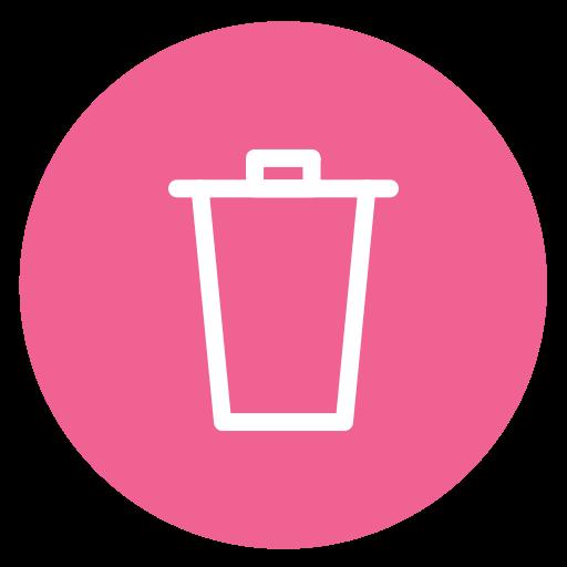 Delete, Style, Circle, Trash Icon