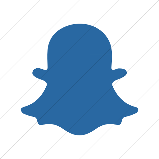 Simple Blue Foundation Social Snapchat Icon