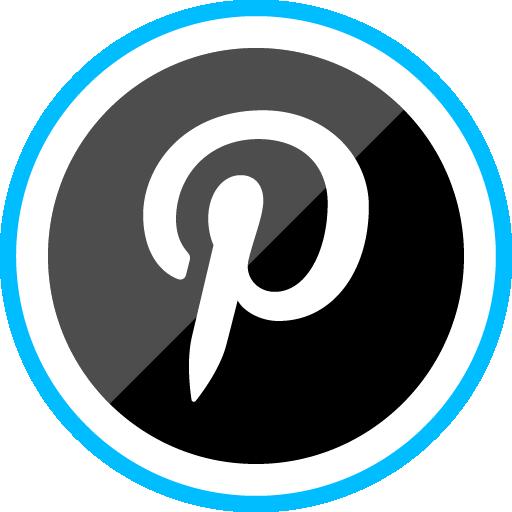 Free Sleak Blue Round Social Media Icon