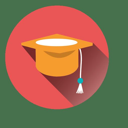 Graduation Hat Round Icon