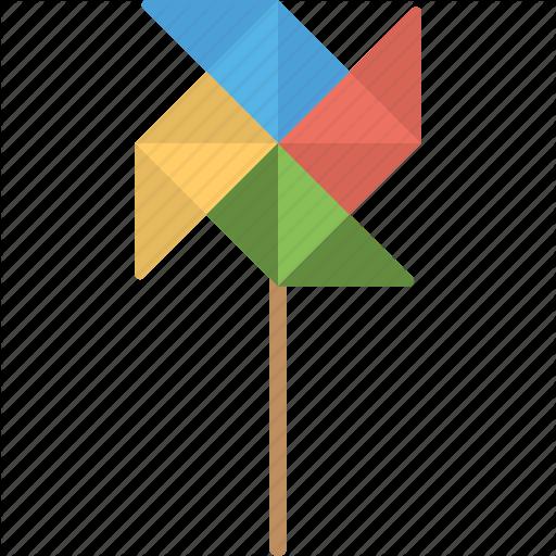 Colorful Toy, Pinwheel, Turbine Toy, Wind Toy, Wind Turbine Icon