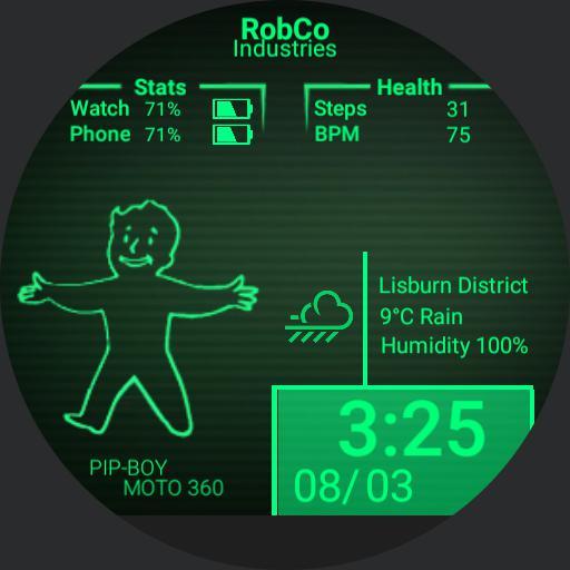 Pip Boy Fallout Designed For Moto For Moto